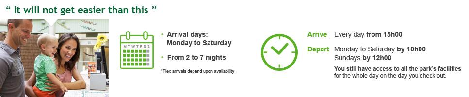 Schedule flexible arrivals
