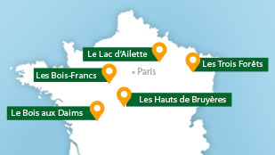carte des center parcs france