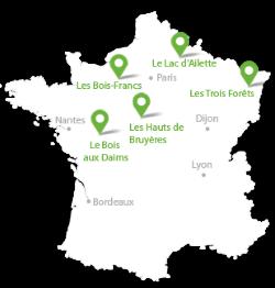 Carte Des Center Parc France | My blog