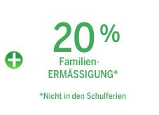 Familien-/55plus-Ermäßigung