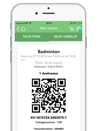 Ontvang je ticket in de app en toon deze bij de activiteit