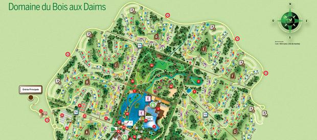 Itinéraire au domaine du Bois aux Daimsà Morton Center Parcs # Le Bois Aux Daims Adresse