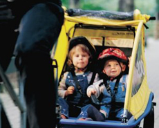 Kinder-Fahrradanhänger-Verleih