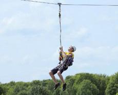 Zip Wire, spannende kabelbaan