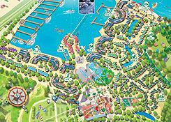 Holiday park port z lande for Port zelande map