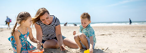 Sandburgen bauen in Zandvoort