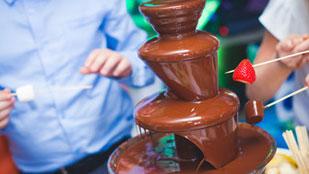 Fontaine de chocolat Milka