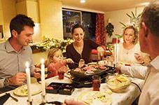 Vacances d'hiver en famille, restauration