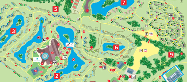 Cottage domaine Les Bois Francs # Plan Center Parc Les Bois Franc
