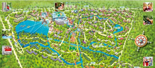 Vakantiepark het meerdal america center parcs for Port zelande map
