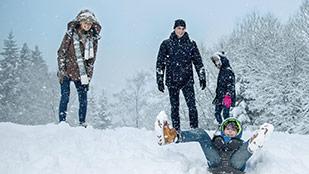Im Schnee in Les Ardennes