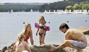 Sandburgen bauen in den Sommerferien