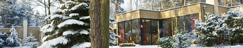 Bungalow in de wintersfeer
