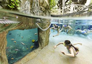 Zwemmen in Aqua Mundo